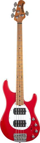 Music Man Sterling 4 HH Scarlet Red Roasted Maple Fingerboard