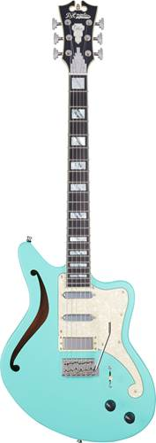 D'Angelico Limited Edition Deluxe Bedford Semi Hollow Matte Surf Green