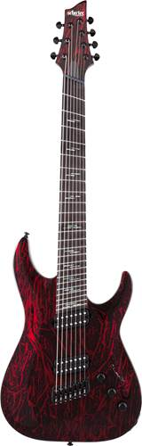 Schecter C-7 MS Silver Moutain Blood Moon
