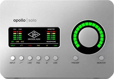Universal Audio Apollo Solo Heritage Edition Thunderbolt