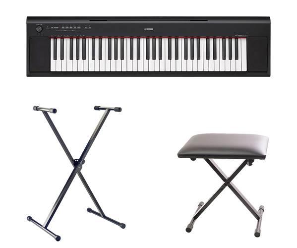 Yamaha NP-12 Black Portable Digital Keyboard Pack