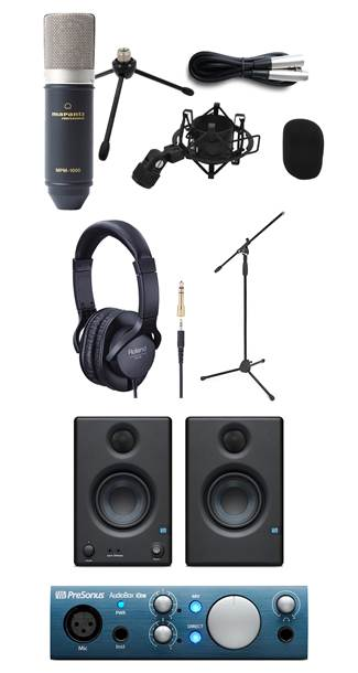 Marantz MPM-1000 Vocal Recording Pack with Mic Stand, Headphones, Eris E3.5 and Audiobox iOne