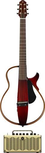 Yamaha SLG200S Silent Guitar Crimson Red Burst with THR5