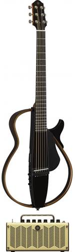 Yamaha SLG200S Silent Guitar Trans Black with THR5
