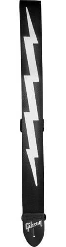Gibson Lightning Bolt 2 Inch Safety Strap Jet Black