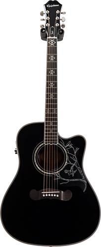 Epiphone Dave Navarro Signature Acoustic/Electric Guitar Ebony (Ex-Demo) #12082317365