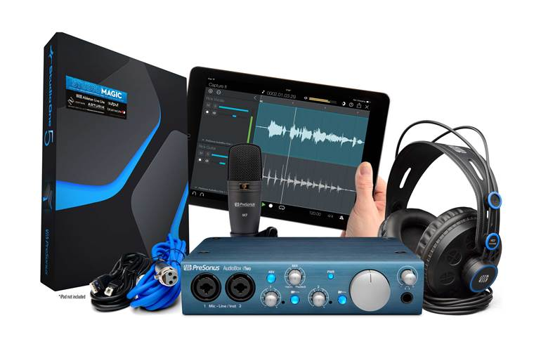 Presonus Audiobox iTWO Studio Recording Package
