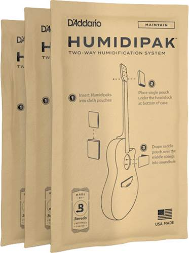 Planet Waves Humidipak System Replacement Packets Maintain 3-pack