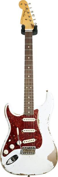 Fender Custom Shop 1963 Stratocaster Heavy Relic Olympic White Over Shoreline Gold Master Built by Jason Smith Left Handed #R108481
