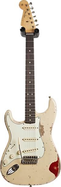 Fender Custom Shop 1963 Stratocaster Heavy Relic Desert Sand over Candy Apple Red Master Built by Jason Smith Left Handed  #R107709