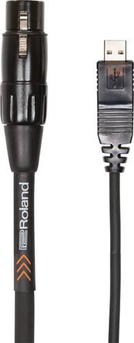 Roland 10ft/3m Interconnect Cable, XLR (F) - USB, Black Pvc