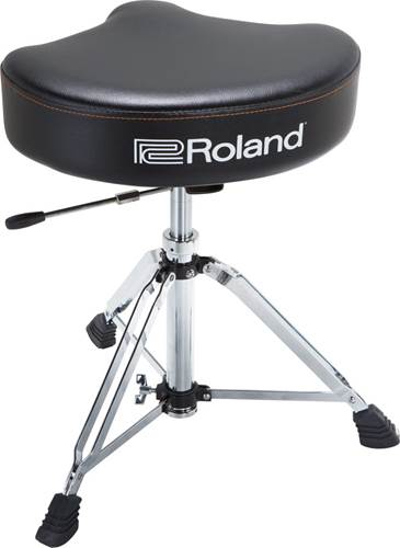 Roland RDT-SHV Saddle Drum Throne with Vinyl Seat and Hydraulic Base