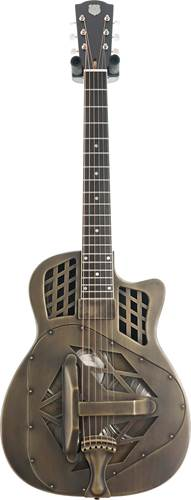 National Reso-Phonic T-14 Cutaway Brass Body Antique Brass Finish with Pickup #23670