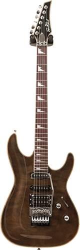 EastCoast EC-GVQ230F Black Quilt Purpleheart Fingerboard (Ex-Demo) #ECEG0454