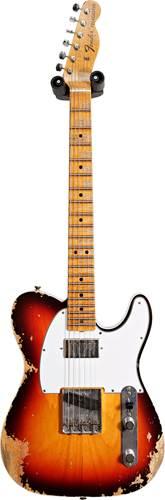 Fender Custom Shop 1967 Telecaster Heavy Relic Chocolate 3 Tone Sunburst Maple Fingerboard Master Builder Designed by Dennis Galuszka #R97578