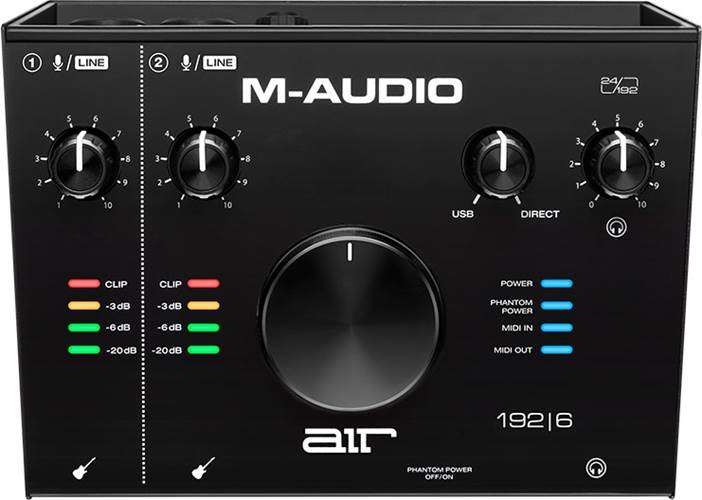 M-Audio AIR 192 6 2-In/2-Out 24/192 USB Audio/MIDI Interface