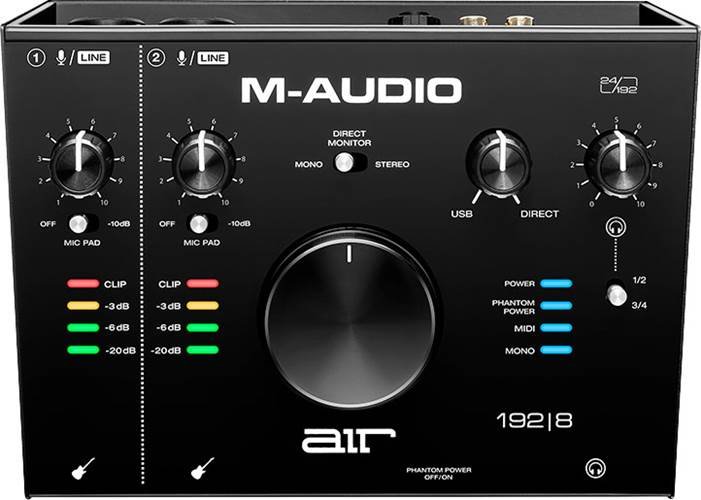 M-Audio AIR 192  8 4-In/4-Out 24/192 USB Audio Interface