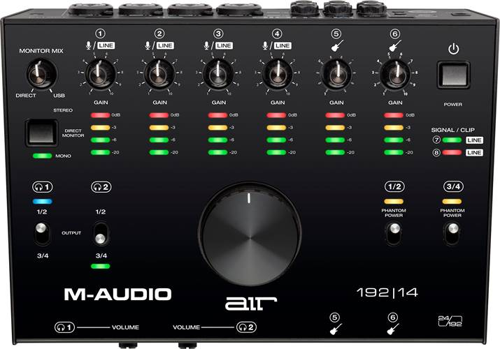 M-Audio AIR 192 14 8-In/4-Out 24/192 USB Audio Interface