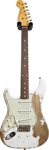 Fender Custom Shop 1960 Stratocaster Super Heavy Relic Olympic White Left Handed #R109258