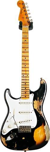 Fender Custom Shop 1957 Stratocaster Super Heavy Relic Black over 2 Tone Sunburst Left Handed #R110304
