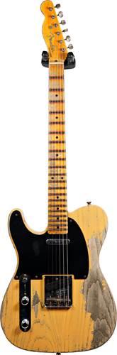 Fender Custom Shop 52 Telecaster Super Heavy Relic Butterscotch Blonde Left Handed #R109073