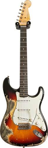 Fender Custom Shop 1963 Stratocaster Super Heavy Relic 3 Tone Sunburst #R113087