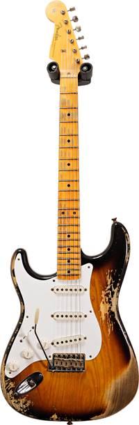 Fender Custom Shop 1957 Strat Heavy Relic 2 Tone Sunburst Left Handed #R109721