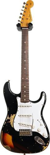 Fender Custom Shop 1961 Stratocaster Heavy Relic Black over 3 Tone Sunburst #R109192