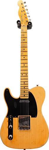 Fender Custom Shop 52 Telecaster Relic Butterscotch Blonde Left Handed #R109085