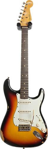 Fender Custom Shop 1960 Stratocaster Relic 3 Tone Sunburst #R109249