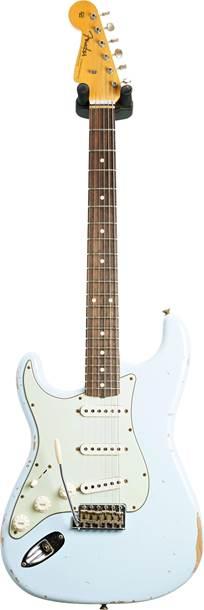 Fender Custom Shop 1960 Stratocaster Relic Sonic Blue Left Handed #R110047