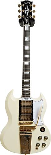 Gibson Custom Shop Murphy Lab 1963 Les Paul SG Custom Reissue 3-Pickup with Maestro Ultra Light Aged Classic White #000201
