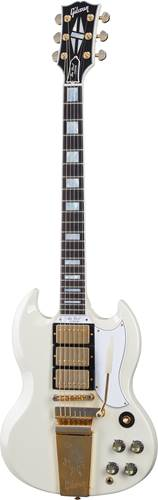 Gibson Custom Shop Murphy Lab 1963 Les Paul SG Custom Reissue 3 Pickup with Maestro Ultra Light Aged Classic White