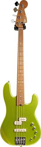 Charvel Pro-Mod San Dimas Bass PJ IV Lime Green Metallic (Ex-Demo) #MC202113