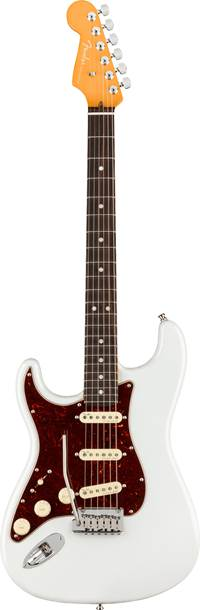 Fender American Ultra Stratocaster Arctic Pearl Rosewood Fingerboard Left Handed