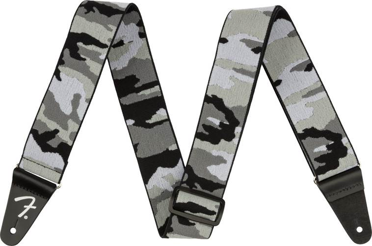 Fender WeighLess 2 Inch Grey Camo Strap