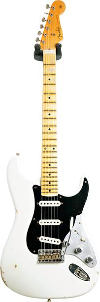 Fender Custom Shop Limited Edition Poblano II Stratocaster Relic Aged Olympic White #CZ551673
