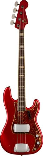 Fender Custom Shop Limited Edition Precision Jazz Bass Journeyman Relic Aged Candy Apple Red