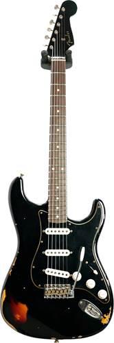 Fender Custom Shop Limited Edition Dual-Mag II Stratocaster Relic Aged Black Over 3 Color Sunburst #CZ551008
