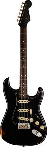 Fender Custom Shop Limited Edition Dual-Mag II Stratocaster Relic Aged Black Over 3 Color Sunburst