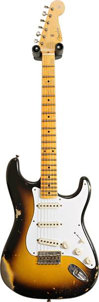 Fender Custom Shop Limited Edition Troposphere Stratocaster Hardtail Heavy Relic Super Faded Aged 2 Color Sunburst #CZ551682