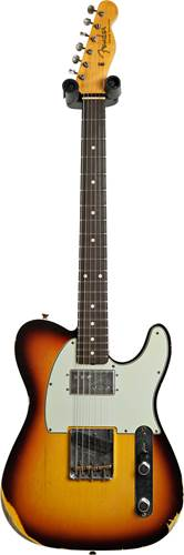 Fender Custom Shop Limited Edition Cunife Telecaster Custom Relic Faded Aged Chocolate 3 Colour Sunburst #CZ551629