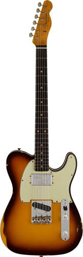 Fender Custom Shop Limited Edition Cunife Telecaster Custom Relic Faded Aged Chocolate 3 Color Sunburst
