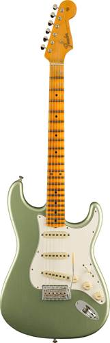Fender Custom Shop Postmodern Stratocaster Maple Fingerboard Journeyman Relic with Closet Classic Hardware Faded Aged Sage Green Metallic