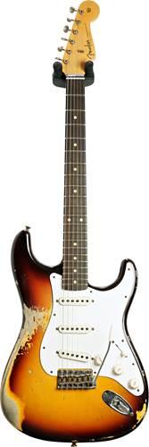 Fender Custom Shop 1959 Stratocaster Heavy Relic Faded Aged Chocolate 3 Color Sunburst #CZ552636