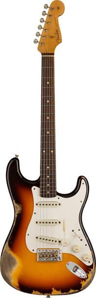 Fender Custom Shop 1959 Stratocaster Heavy Relic Faded Aged Chocolate 3 Colour Sunburst
