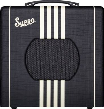 Supro Delta King 8 Black and Cream