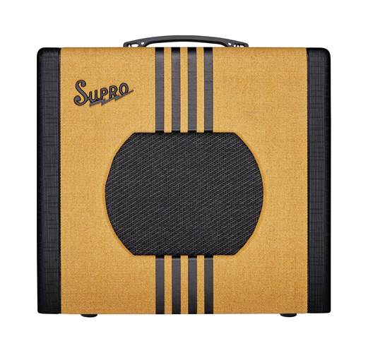 Supro Delta King 10 Tweed and Black