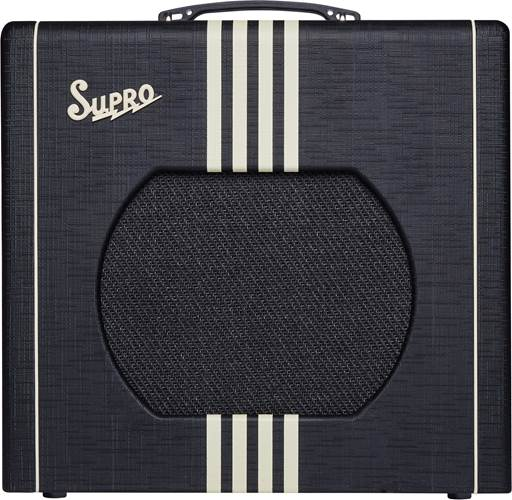 Supro Delta King 12 Black and Cream