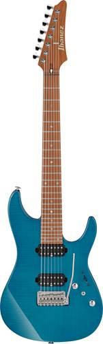 Ibanez MM7 Martin Miller Signature AZ 7 String Transparent Aqua Blue